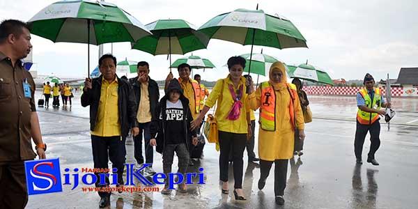 "Ketua umum Partai Golkar ""SETYA NOVANTO"" Tiba di Tanjungpinang 1"