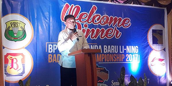 """Welcome Dinner Peserta BP Batam """"BADMINTON CHAMPIONSHIP 2017"""" 1"""