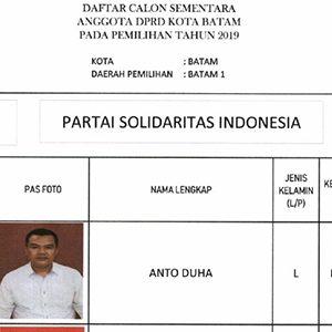 "Daftar Calon Sementara ""DPRD KOTA BATAM"" dari Partai PSI 3"