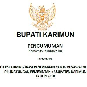 """Pengumuman Lulus Seleksi Administrasi Penerimaan """"CPNS PEMKAB KARIMUN"""" 9"""