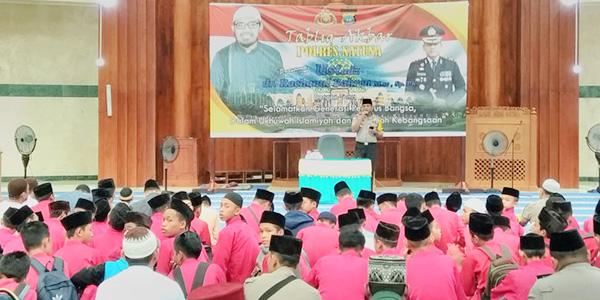 Hadapi Pesta Demokrasi, Polres Natuna Gelar Tabligh Akbar 1