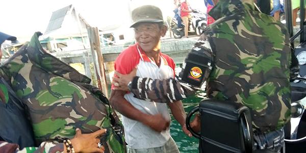 Lanal Ranai dan Tim SAR Gabungan Temukan Nelayan Yang Hilang 1