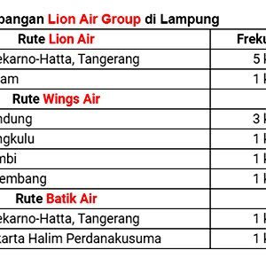 Informasi Penerbangan Lion Air Group di Lampung