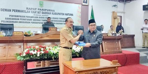 Dewan Setujui Ranperda LPj Pelaksanaan APBD Natuna Tahun 2018 1