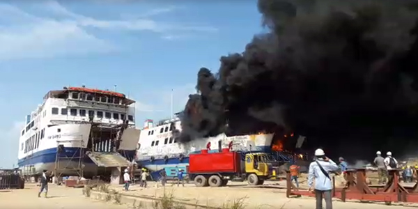 Kapal Roro Meledak, Tiga Tewas, 9 Cidera 1