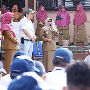 Wakil Walikota Tanjungpinang, Hj Rahma melakukan kunjungan SMPN 5 Tanjungpinang