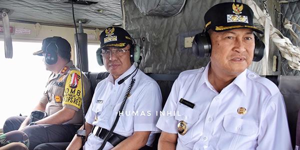 Cegah Karhutla di Inhil, Bupati dan Wakil Pantau dari Udara 1