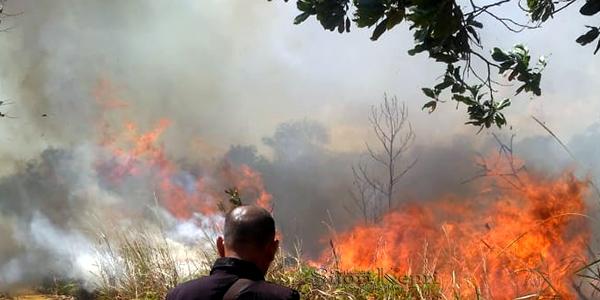 Kantor Camat dan Mapolsek Dikepung Api 1