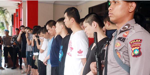 Polresta Barelang Amankan 47 Pelaku, Diduga Lakukan Penipuan dan Pemerasan 1