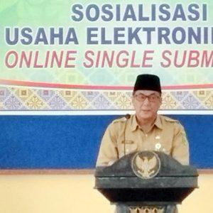 Asisten II Ekonomi dan Pembangunan Kabupaten Natuna, H Tasrif Amran, menyampaikan kata sambutan