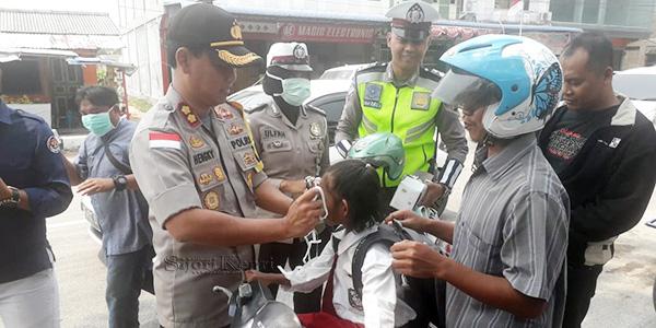 Satlantas Polres Karimun Laksanakan Kegiatan Cek Kesehatan Gratis 1