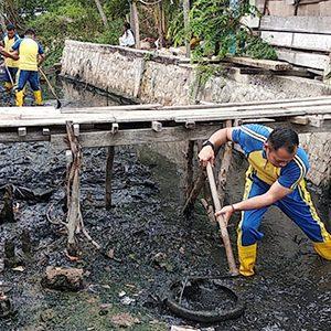 Kegiatan World Cleanup Day di Kecamatan Tebing 10