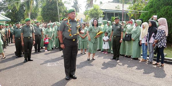 Kodim 0315/Bintan Gelar Tradisi Penyambutan dan Pelepasan Komandan Kodim 0315/Bintan