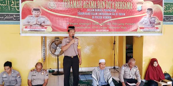 Tahun Baru Islam, Polsek Kundur Gelar Ceramah Agama dan Doa Bersama 1
