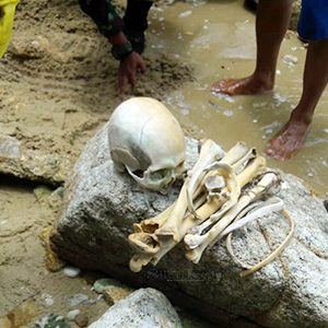 Seorang nelayan menemukan kerangka tengkorak manusia di Pulau Tokong Belanda Satu, dekat perairan Pulau Asam, Kelurahan Pasir Panjang