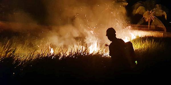 Vihara Bati Dikepung Api, Kapolsek Tebing Ambil Tindakan 1