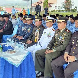 Para peserta upacara Peringatan Hari Pahlawan Ke 74 Tahun 2019