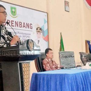 Sekda Kabupaten Natuna, Wan Siswandi S.Sos M.Si, membuka Musrenbang Perubahan RPJPD Kabupaten Natuna 2005 – 2025