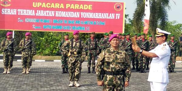 Mayor Marinir Hafied Resmi Jabat Danyonmarhanlan IV Tanjungpinang