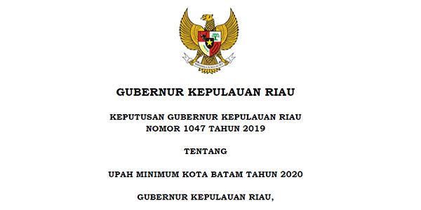 Inilah UMK Batam Tahun 2020