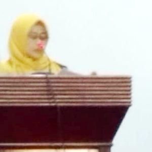 Wabup Natuna, Hj Ngesti Yuni Suprapti menyampaikan Ranperda Tentang Revisi RPJPD Kabupaten Natuna Tahun 2005 – 2025