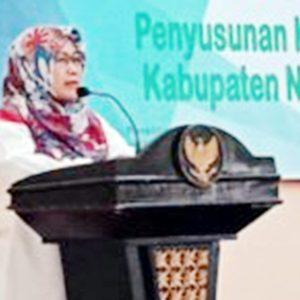 Wakil Bupati Natuna, Hj Ngesti Yuni Suprapti, menyampaikan kata sambutan, sekaligus membuka kegiatan