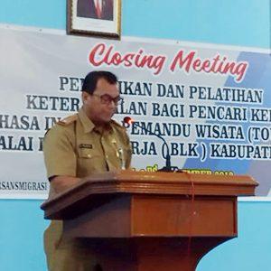 Asisten II Ekonomi dan Pembangunan Sekretariat Daerah (Setda) Kabupaten Natuna, Tasrif Amran, menyampaikan kata sambutan