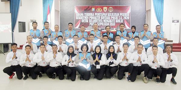Polda Umumkan Peserta Lulus Rekrutmen Proaktif Bintara Polri