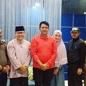 Ketua Umum IKT Tanjungpinang H Atmadinata bersama Pengurus IKT Tanjungpinang melakukan pertemuan dengan Bupati Bintan Apri Sujadi