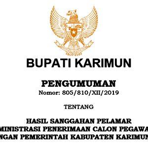 Pengumuman Hasil Sanggahan Seleksi Administrasi CPNS Pemkab Karimun 4