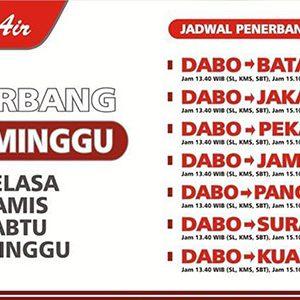 Jadwal Terbaru Penerbangan Wings Air di Dabo Singkep 1