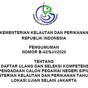 Pengumuman Daftar Ulang dan SKD CPNS KKP Pekanbaru