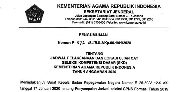 Pengumuman Jadwal SKD CPNS Kemenag Provinsi Riau