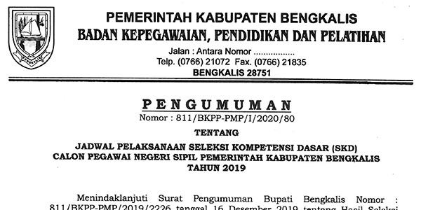 Pengumuman Jadwal SKD CPNS Pemkab Bengkalis