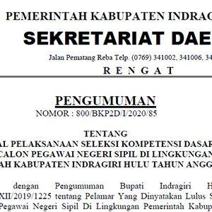 Pengumuman Jadwal SKD CPNS Pemkab INHU 10