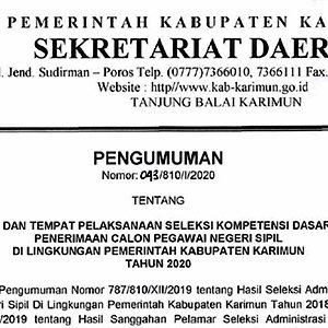 Pengumuman Jadwal SKD CPNS Pemkab Karimun 3
