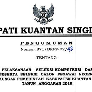 Pengumuman Jadwal SKD CPNS Pemkab Kuansing 10
