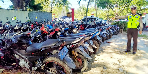 Ratusan Sepeda Motor Tangkapan Penuhi Mapolresta Barelang