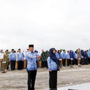 Upacara 17 Hari Bulan Januari 2020 Pemerintah Kabupaten Natuna di Lapangan Upacara Kantor Bupati Natuna