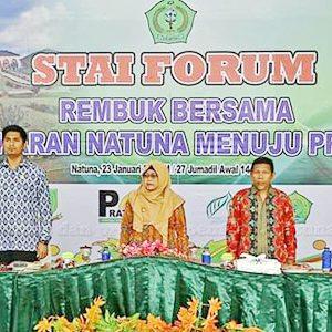 Wakil Bupati Natuna, Hj Ngesti Yuni Suprapti, Ketua DPRD Kabupaten Natuna Andes Putra, Ketua LAM Natuna H Wan Jawali, Ketua STAI Natuna H Kartubi