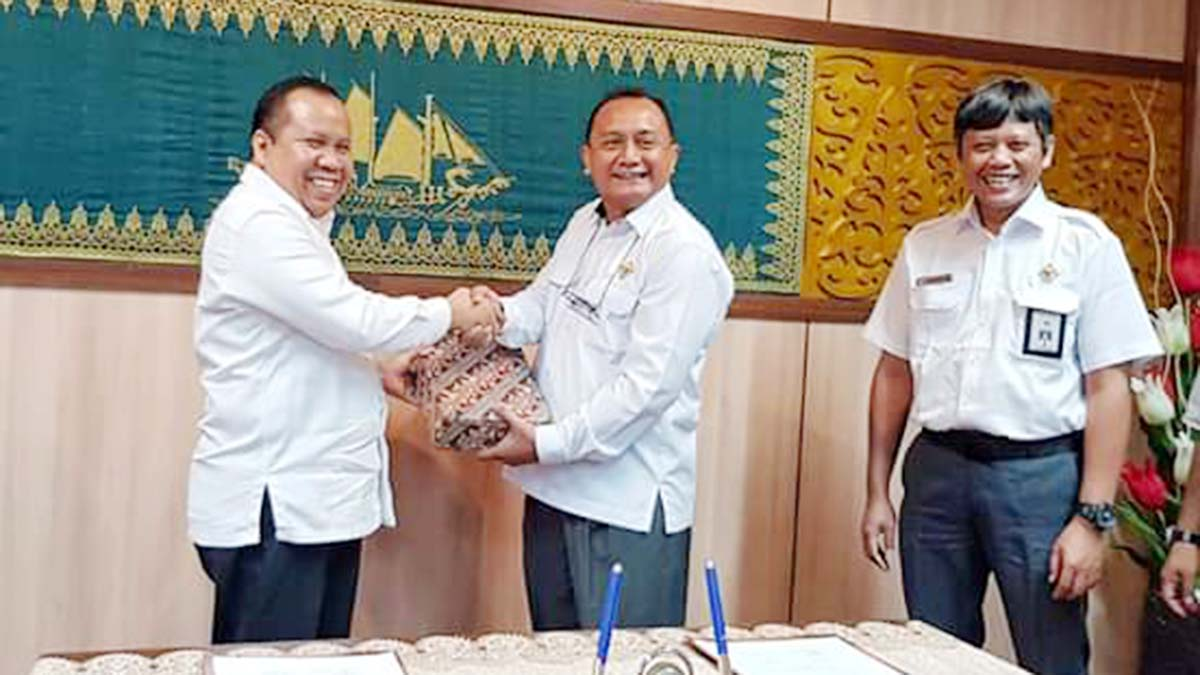 Tercepat di Riau, Bupati Meranti Serahkan LKPD 2019 Kepada BPK RI 2