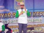 Ketua HKTI Provinsi Kepri, Alias Wello, bersilaturahmi bersama warga Bintan di Tanjung Uban