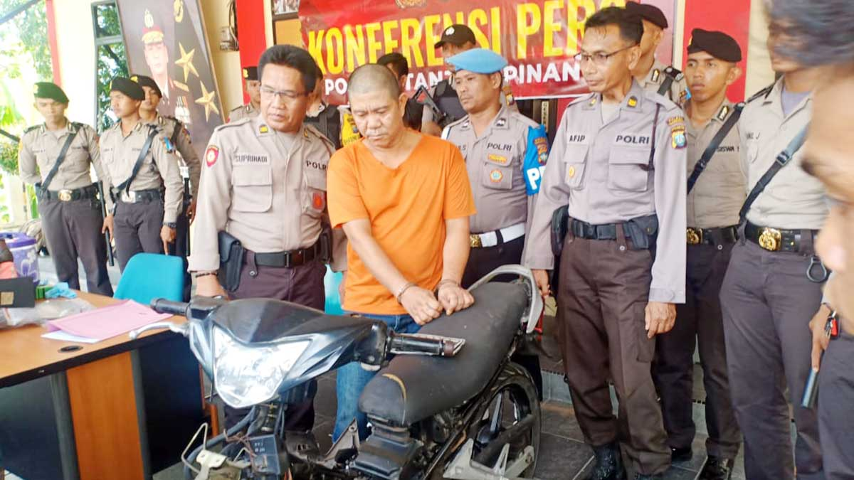 Bawa Sepeda Motor Curian, Pria Ini Ditangkap 1