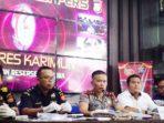 Wakapolres Karimun, Kompol M Chaidir S.IK, menyampaikan keterangan pers terkait kasus Narkotika di Kabupaten Karimun