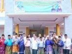 Bupati Kepulauan Meranti, Drs H Irwan M.Si, foto bersama usai melakukan peresmian 3 Gedung Fasilitas Kesehatan