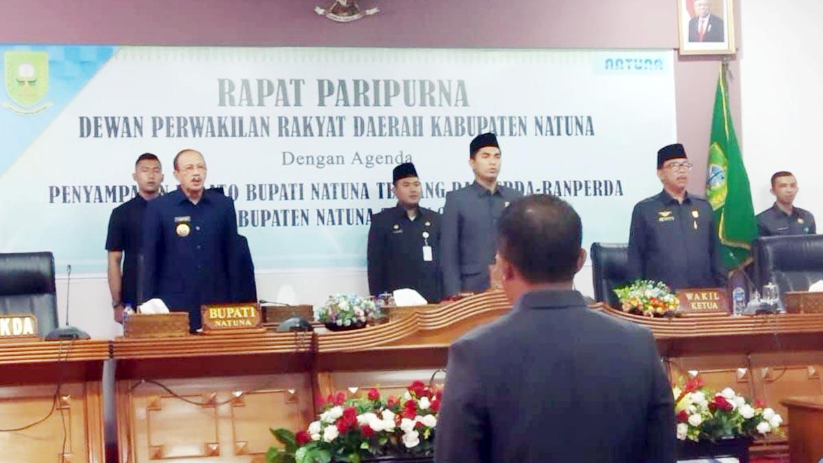 Bupati Natuna Sampaikan Ranperda Kabupaten Natuna Tahun 2020 3