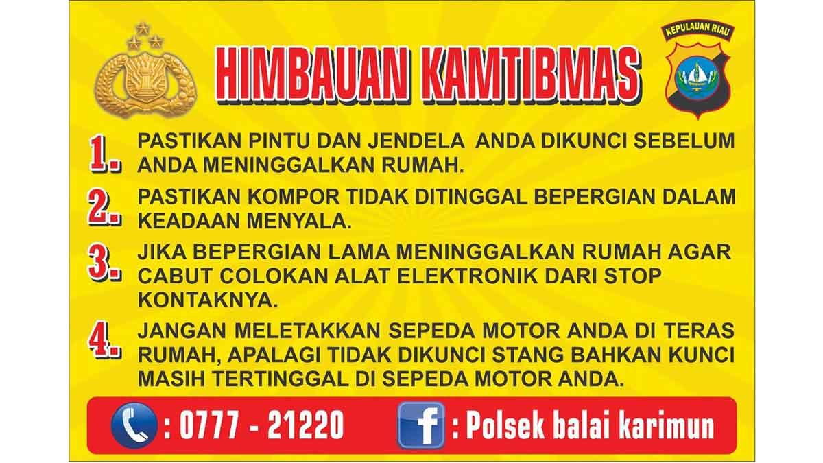 Polsek Balai Karimun Pasang Stiker Imbauan di Rumah Warga 2