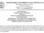 Pengumuman Hasil SKD CPNS Kemendikbud Formasi 2019 7