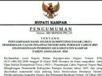 Pengumuman Hasil SKD CPNS Pemkab Kampar Formasi 2019 10
