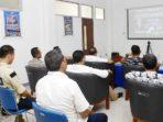 Bupati Natuna, H Abdul Hamid Rizal, melakukan Vidio Conference dengan Plt Gubernur Kepri, Isdianto, terkait Percepatan Penanganan COVID-19